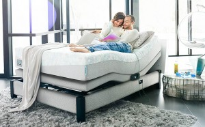 Couple Loving Their Comforpedic IQ