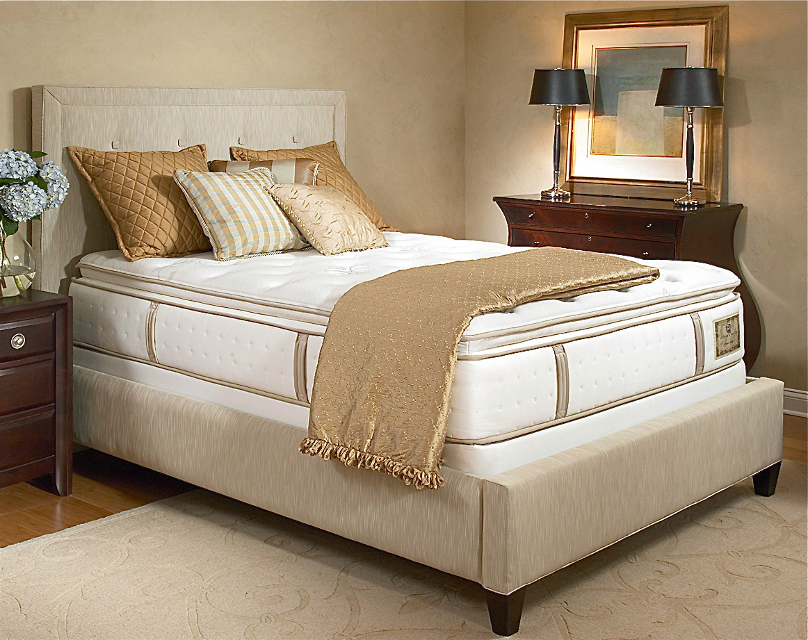 Stearns foster blisswood luxury plush euro pillow top for Which mattress company is the best