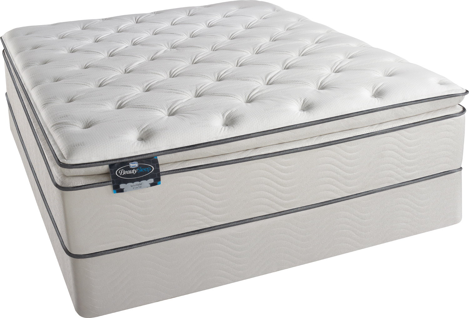 X Simmons Beautysleep Euro Pillow Top Foam Encased