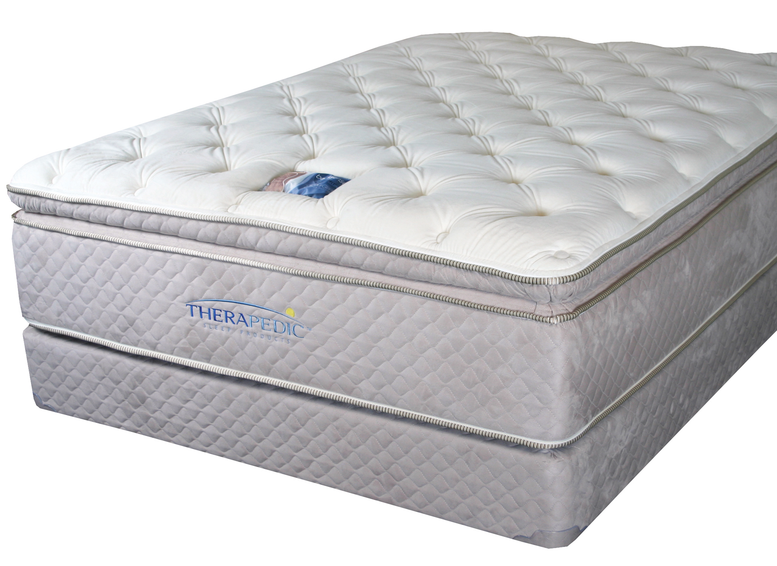 therapedic backsense pillow top mattresses. Black Bedroom Furniture Sets. Home Design Ideas